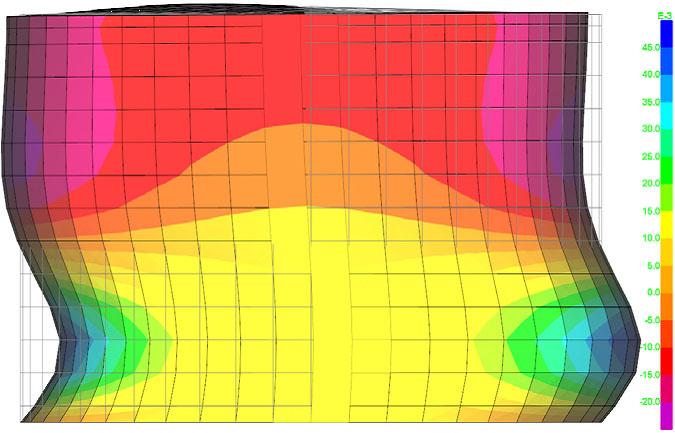 response spectrum analysis of a water tank
