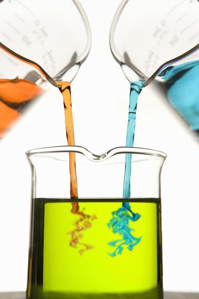 chemical reaction beaker