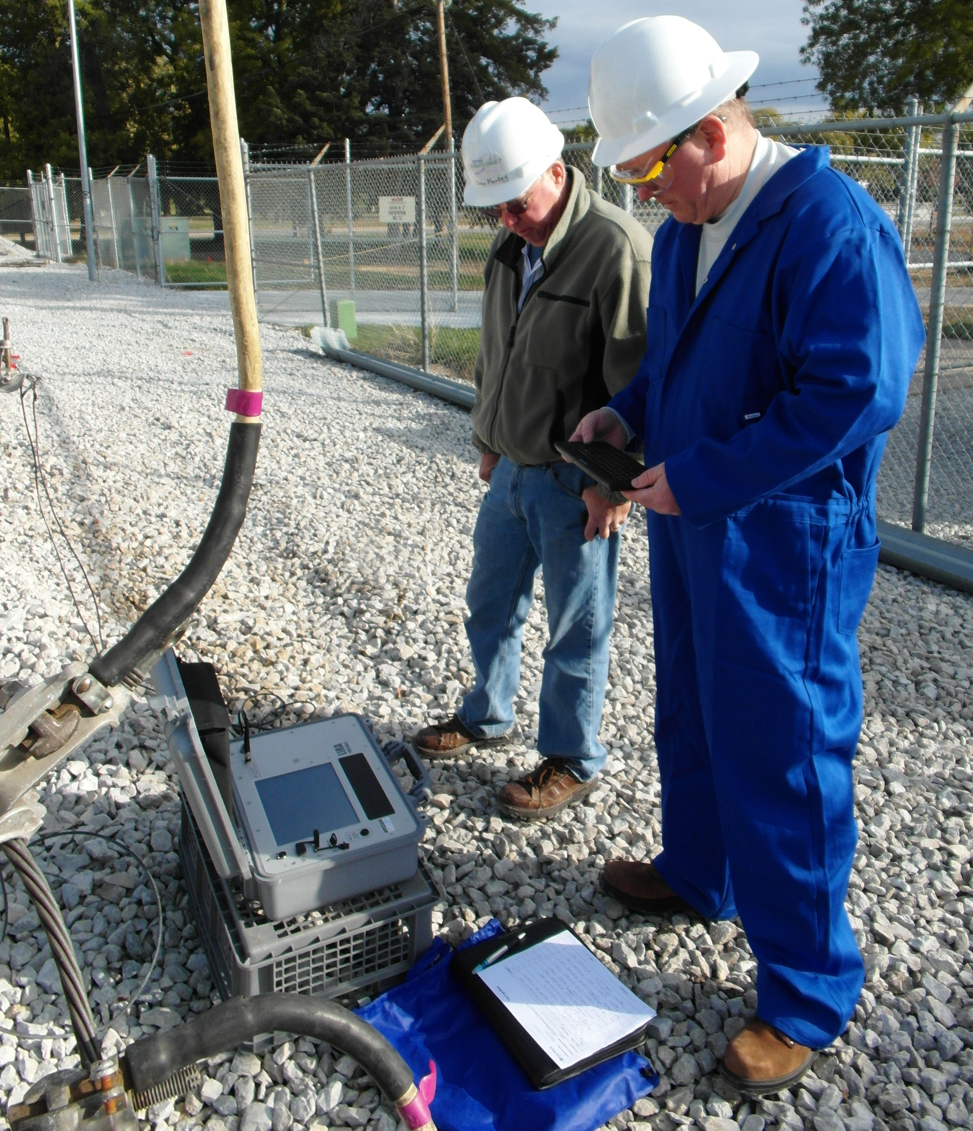 Figure 1: LIRA® testing of an underground electrical transmission circuit