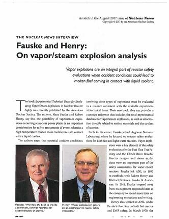 Fauske & Henry Interview Nuclear News