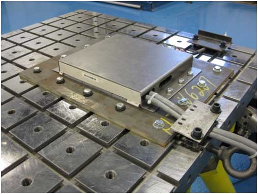 Component tested on a seismic shake table