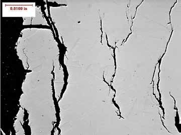 Transgranular stress corrosion cracking in austenitic stainless steel