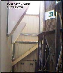 Figure 2. Vent exits near outside silos