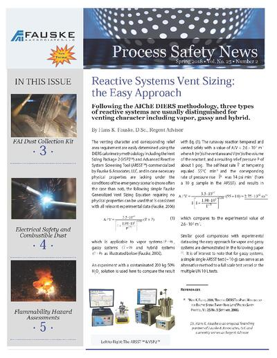 Spring 2018 Process Safety News