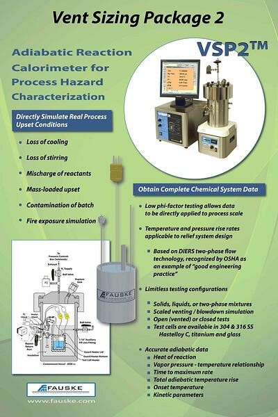 Adiabatic Reaction Calorimeter for Process Hazard Characterization