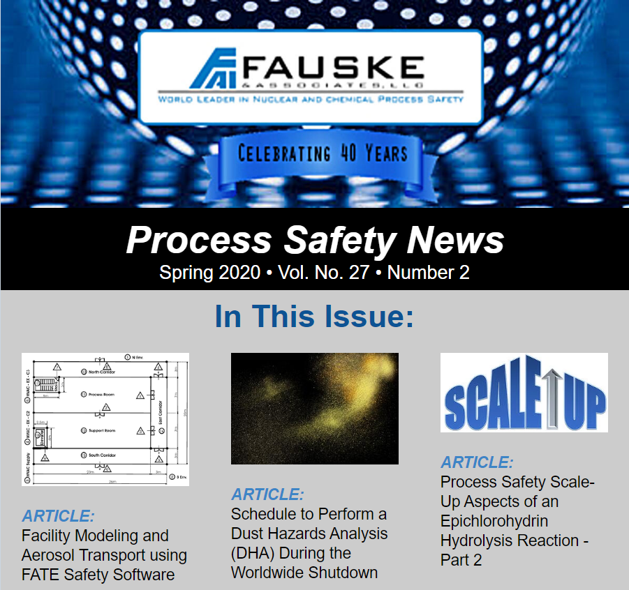 Fauske Process Safety News - Spring 2020 Edition