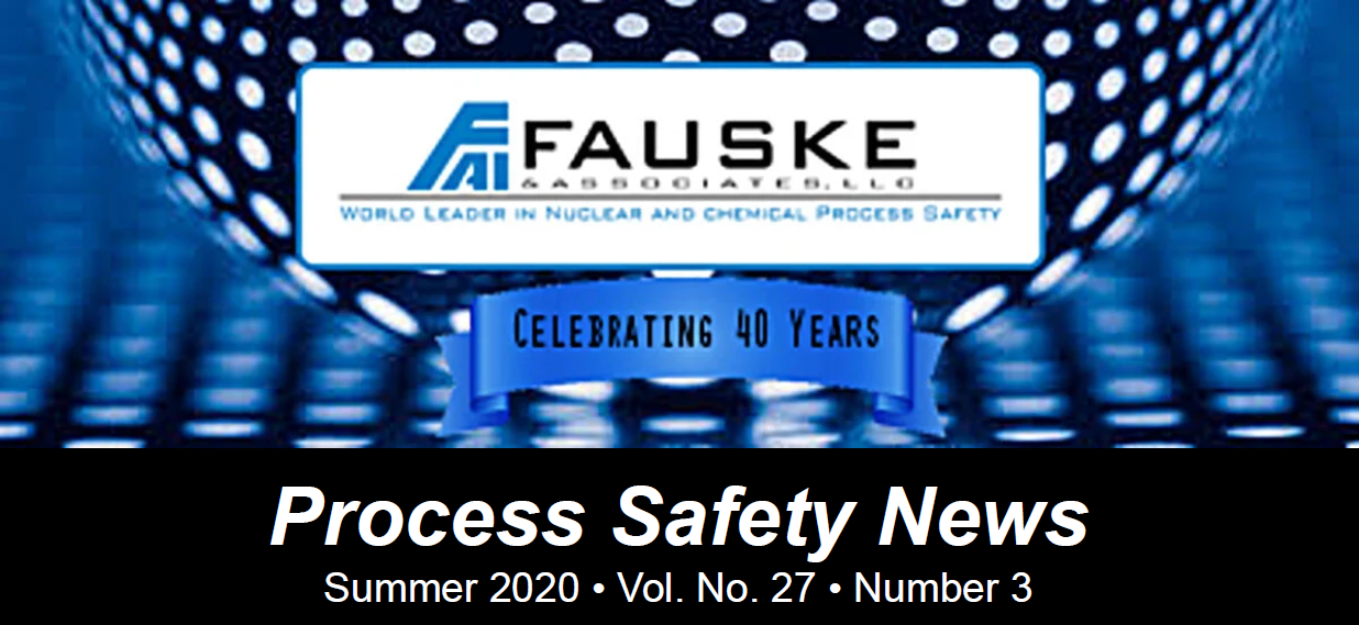Summer 2020 Process Safety Newsletter