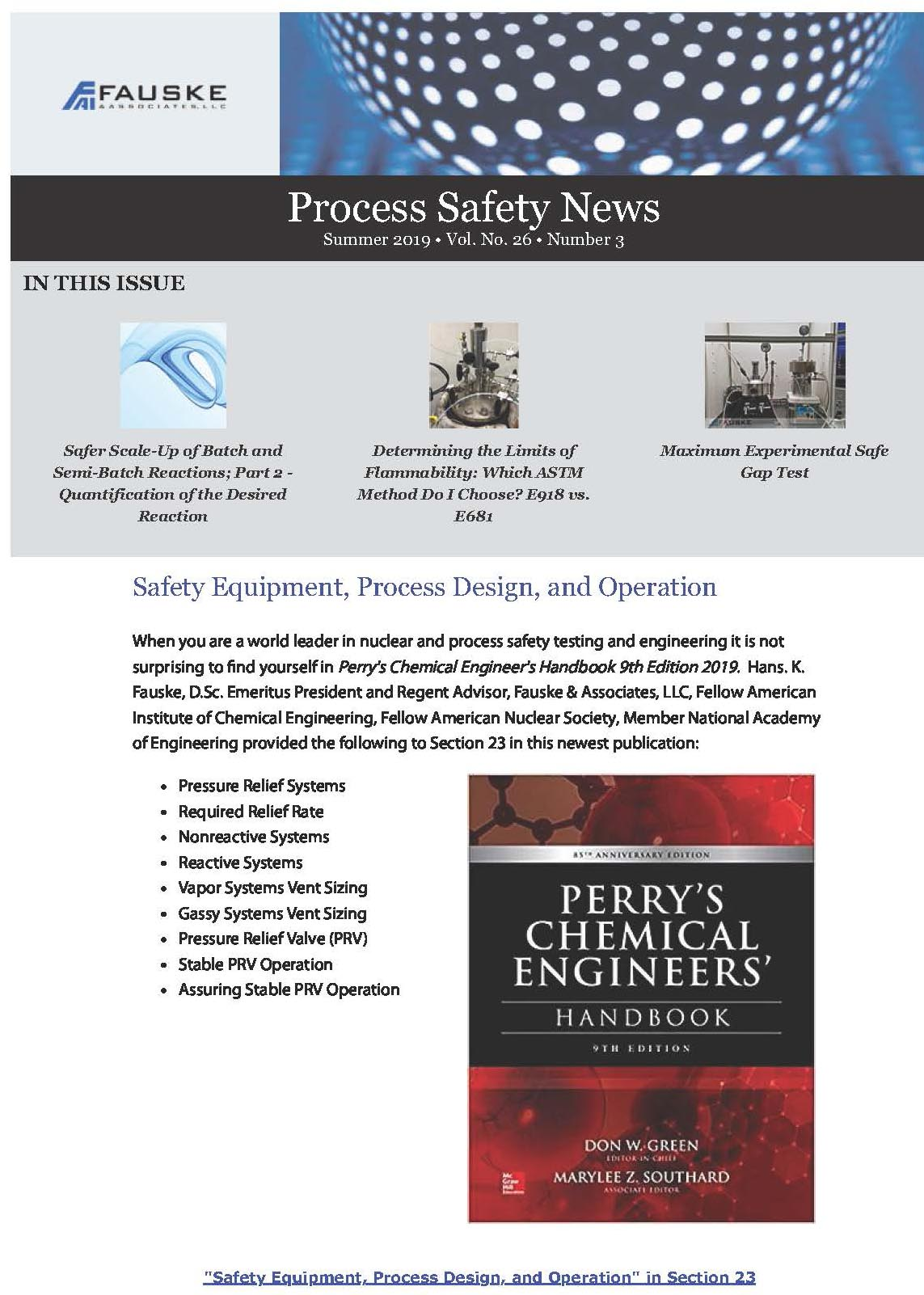 Process Safety News Summer 2019 Edition __New Format!