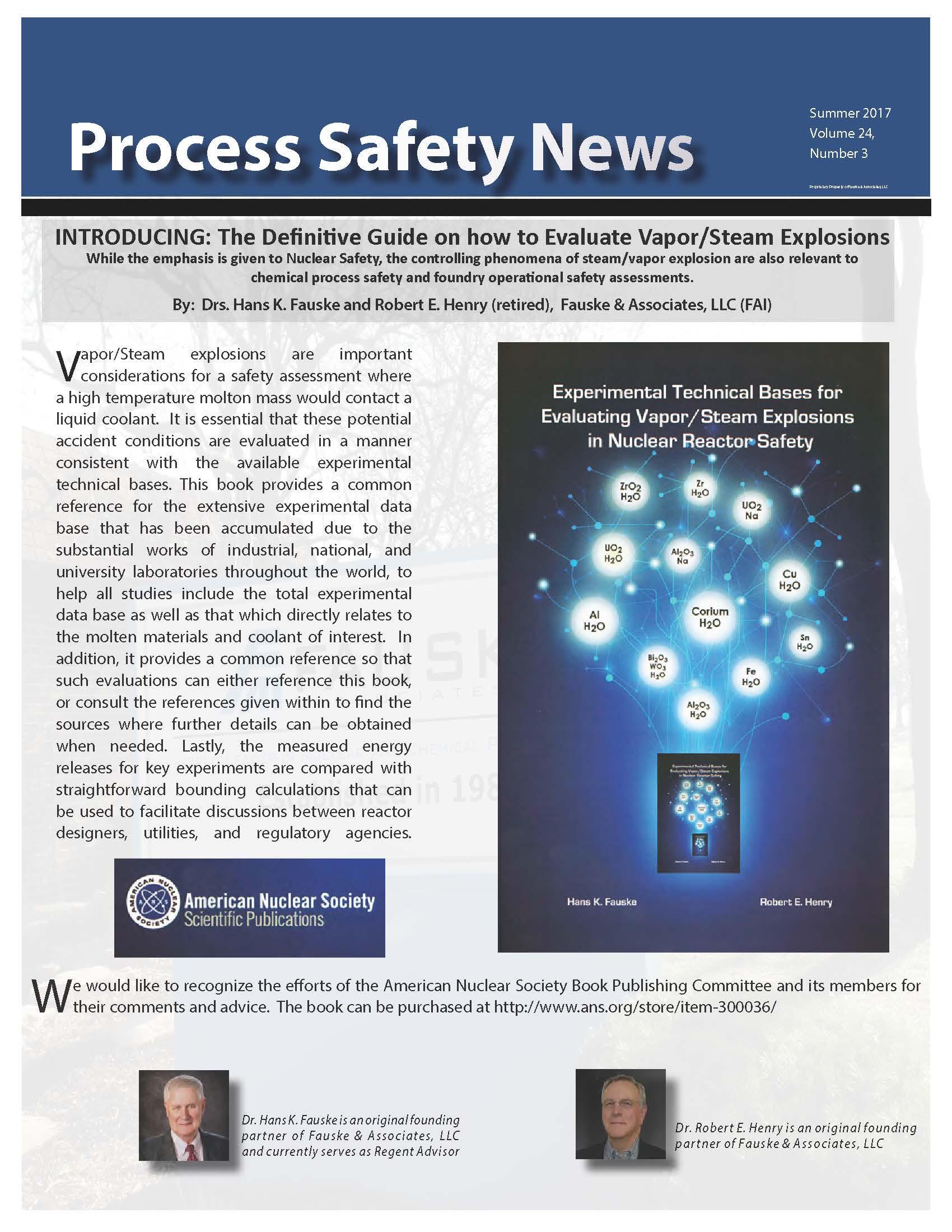 Summer 2017 Process Safety Newsletter