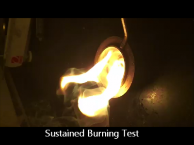Sustained Burning Test on a Condensed Aerosol Sample Video